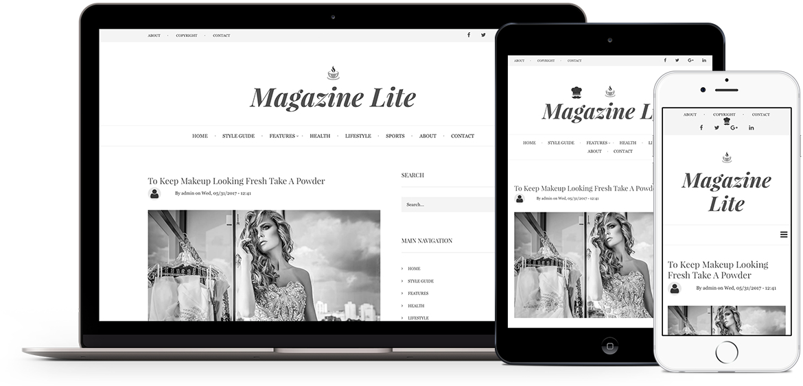 Magazine Lite theme for Drupal 8