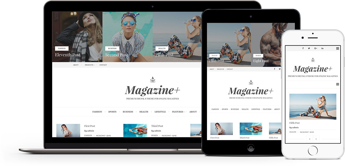 Magazine+ Premium theme for Drupal 8