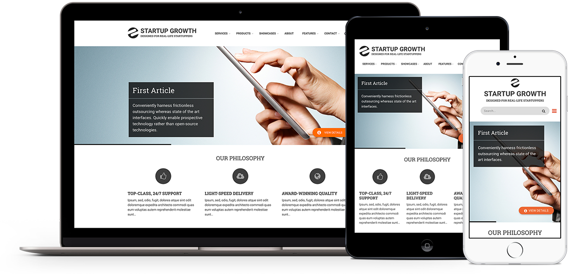 Startup Growth, premium theme for Drupal 8