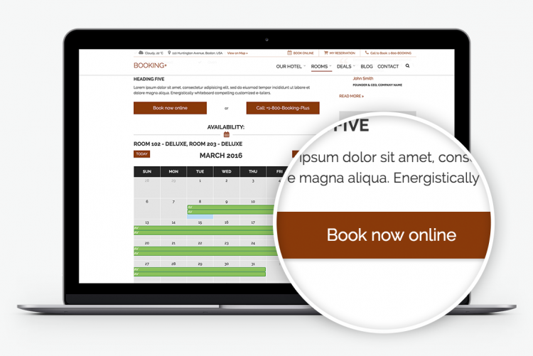 With a complete Booking & Room management solution