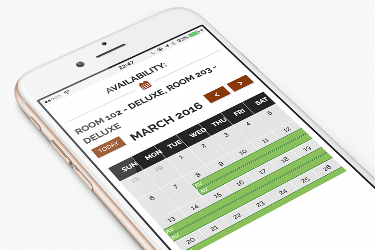 Easy to check room availability using a Calendar
