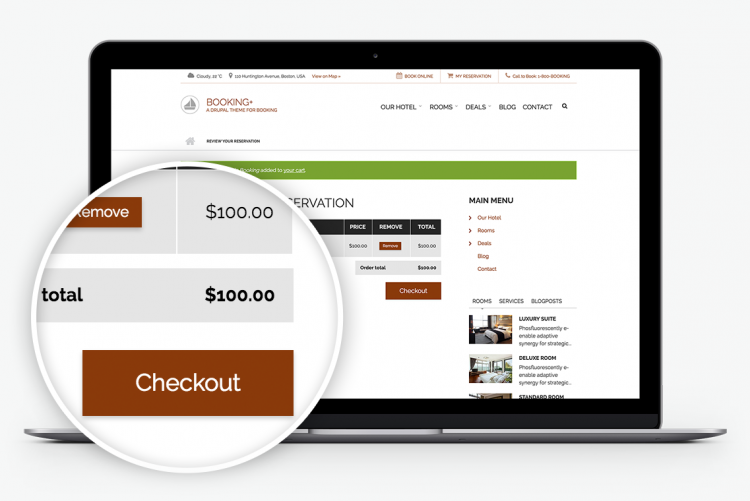 Integrates with Drupal Commerce for managing payments