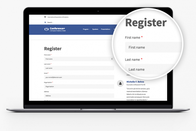 A great Registration page, built on great foundation