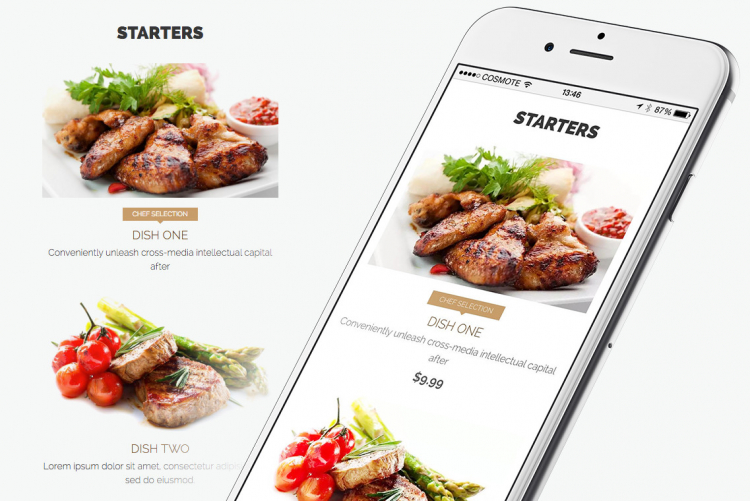 Identify and present selected dishes easily, in a great-looking way