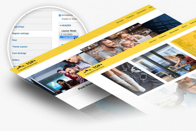 200+ theme settings to customize your site